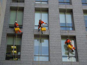 Limpieza de cristales en edificios