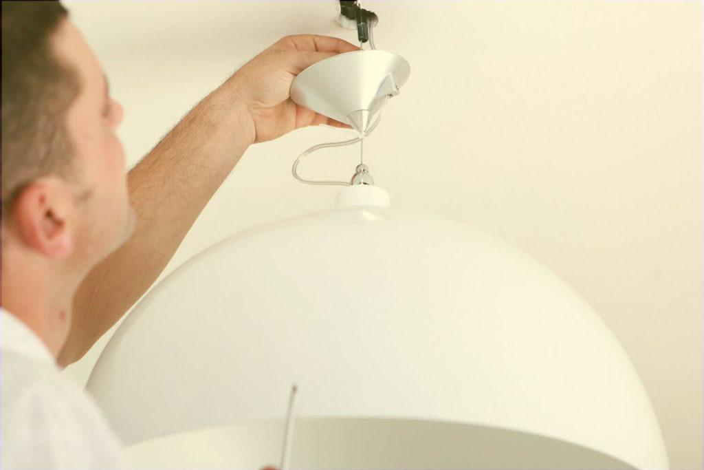cableado de lámparas