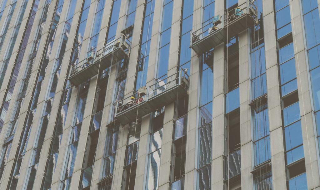 limpiar edificios altos