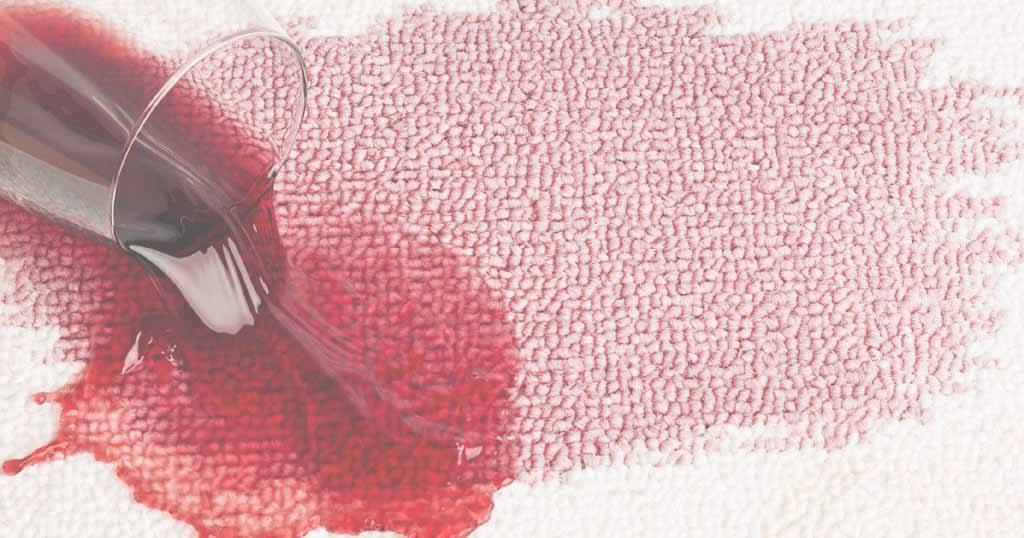 manchas de vino en alfombras