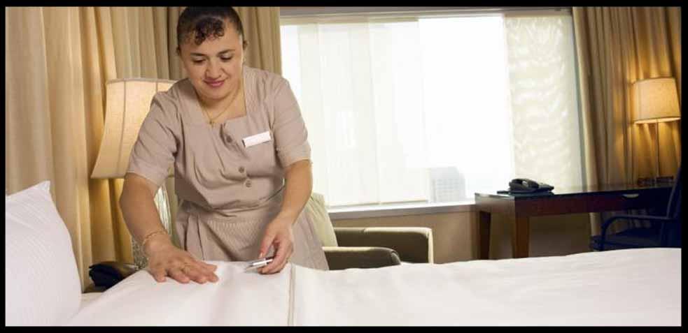 servicio de camarera de pisos en hoteles