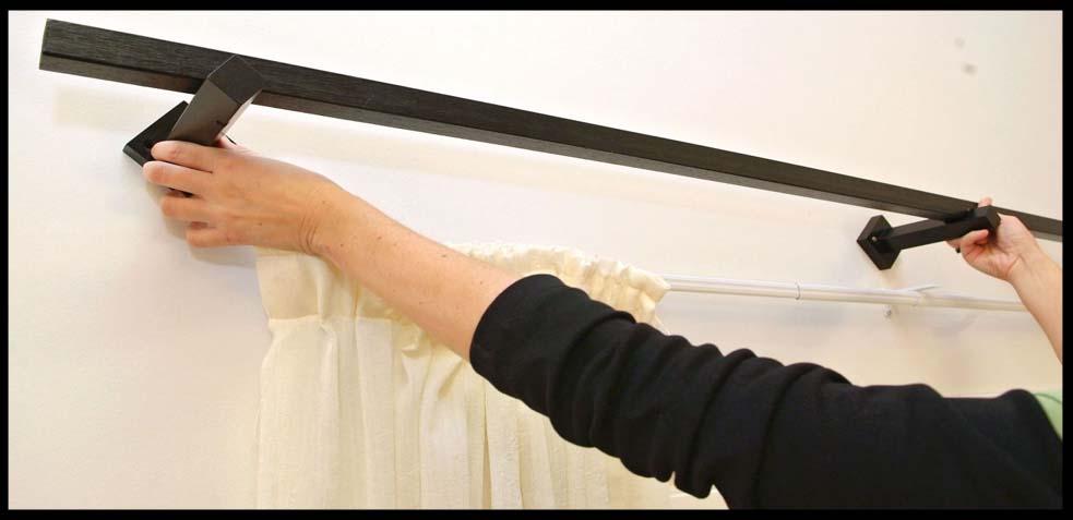 forma de colocación de una barra de cortinas