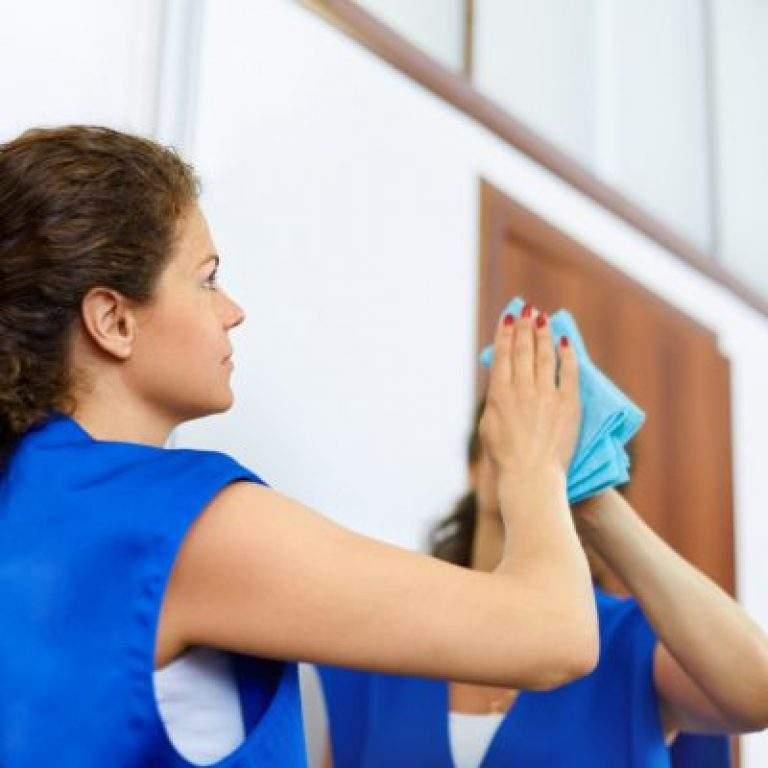 limpieza de espejo