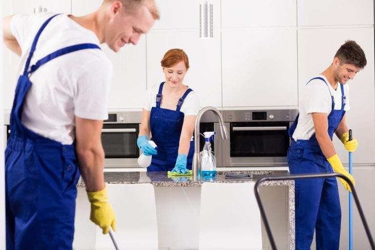 trabajando en función de la limpieza