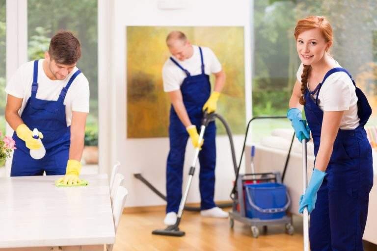 grupo de personas limpiando hogares