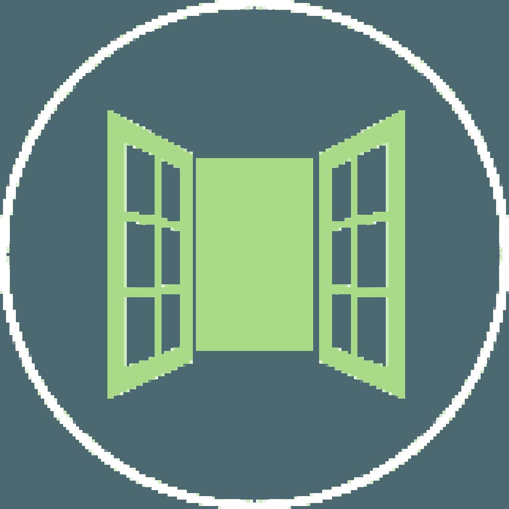 icono de ventana con fondo verde