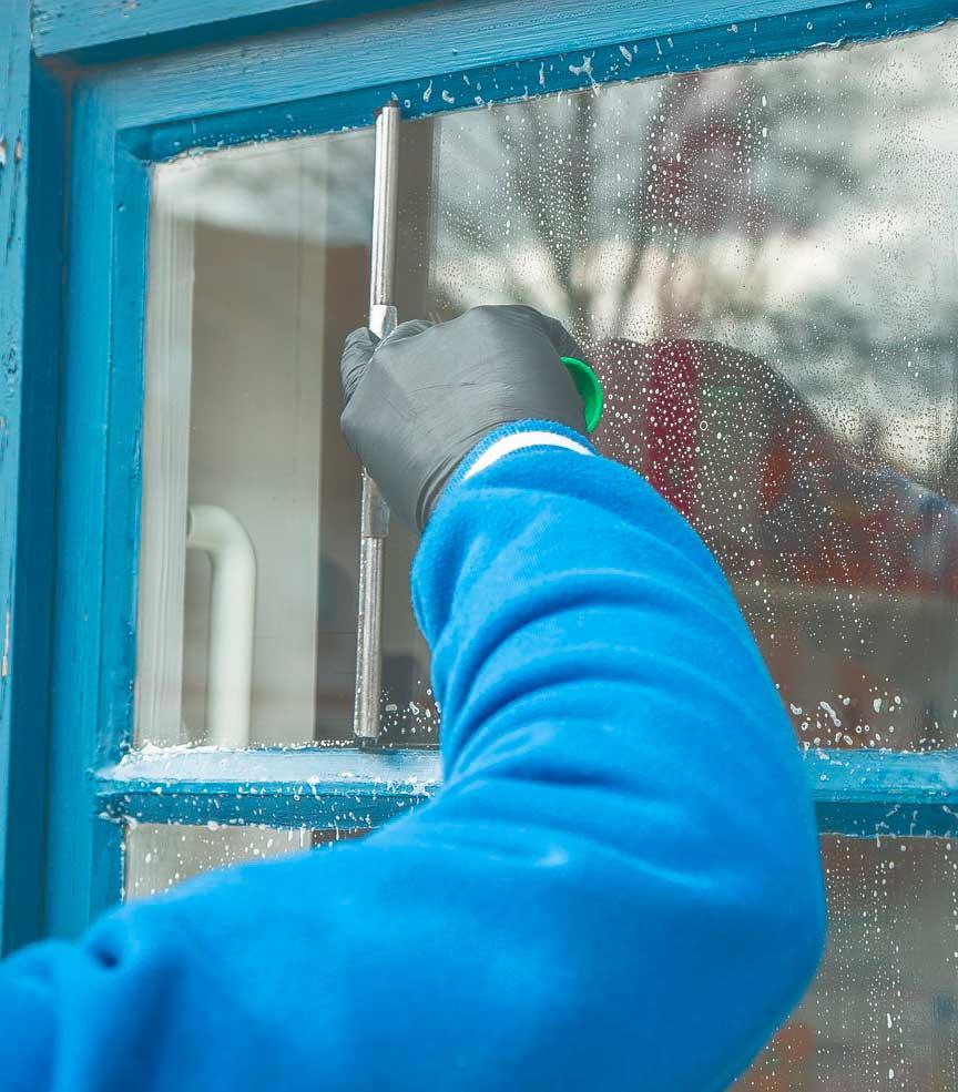 limpiando ventana