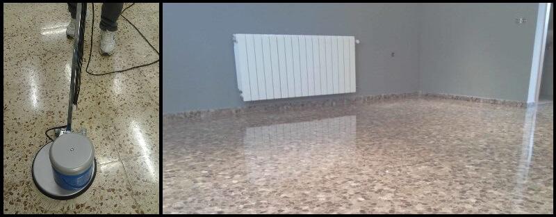 Pulir suelo terrazo de forma casera