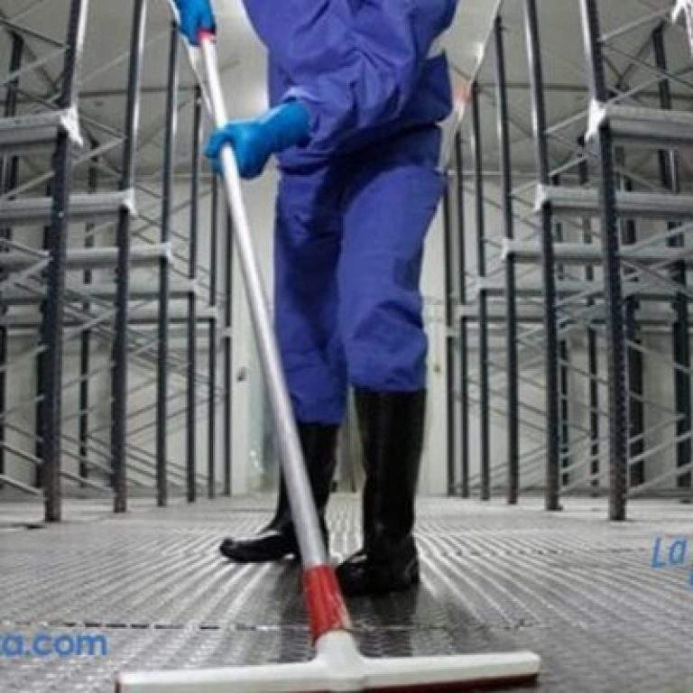 limpiando el galpon