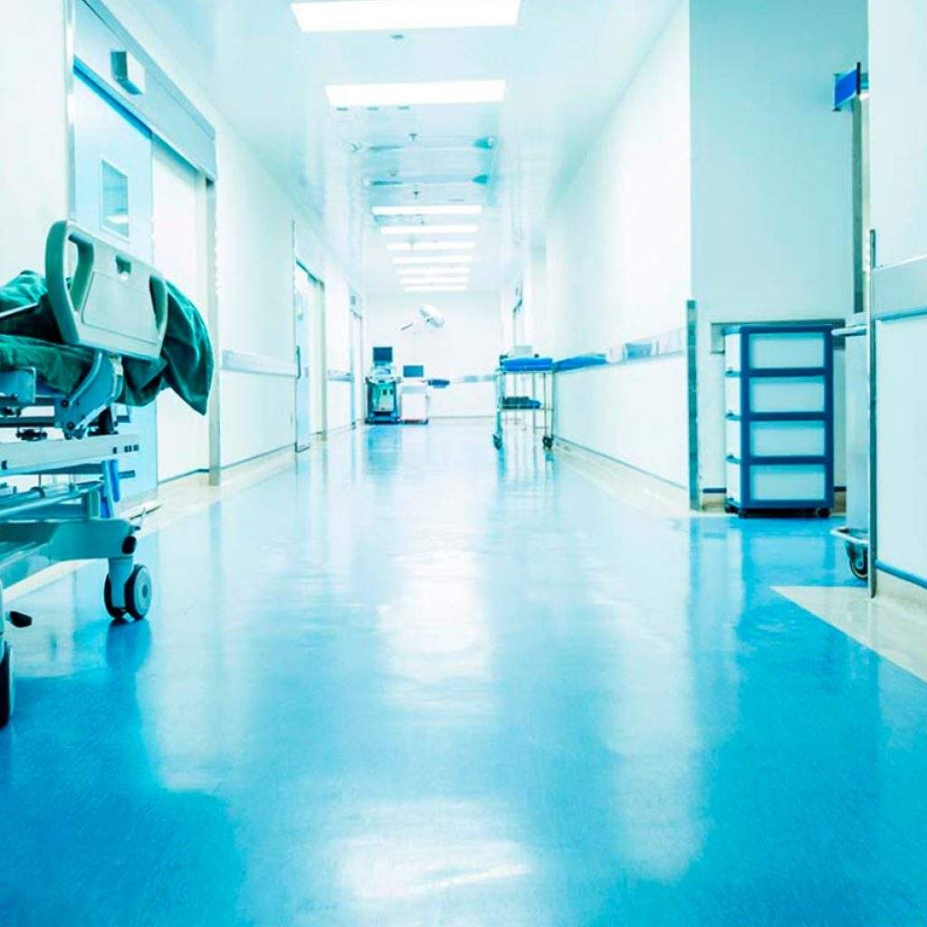 limpieza de hospital