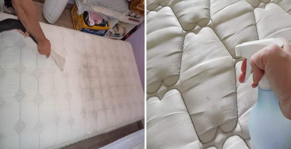 Cómo limpiar manchas colchón