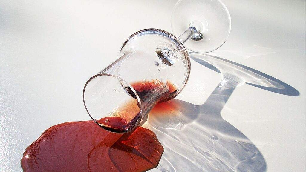 Limpiar manchas de vino
