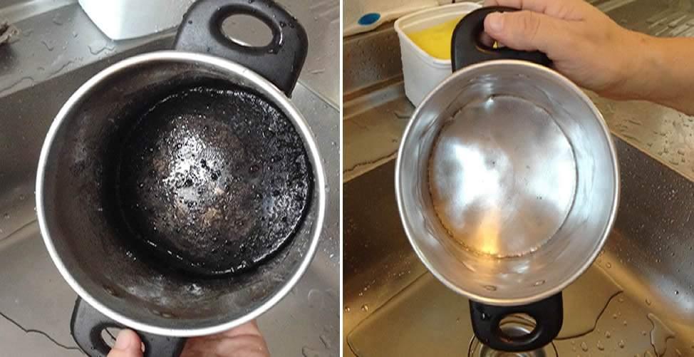 Limpiar quemado olla